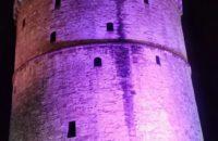 O Λευκός Πύργος ανάμεσα στα παγκόσμια μνημεία που φωτίστηκαν για την Παγκόσμια Ημέρα Προωρότητας